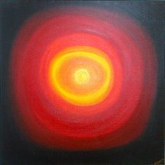 Red Galaxy. Oil in Stretched Canvas