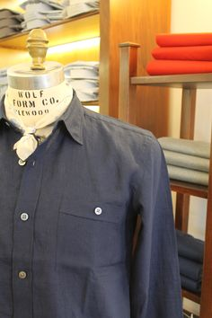Our overshirt were designed with leisure in mind. Cut a bit boxy with a straight across hem, it looks equally good with denim, shorts or swimwear. Crafted Irish linen from renowned specialist weaver Spence Bryson. Summer Shirts, Collar Shirts, Body Shapes, Colorful Shirts, Chef Jackets, Irish, Denim Shorts, Menswear, Slim
