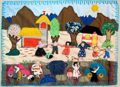The Birth Of Christ, Textiles, Freedom Of Speech, Down South, Textile Art, Art Museum, Nativity, Fairy Tales, Kids Rugs
