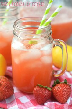 This Strawberry Lemonade is made from scratch, totally delicious, and only THREE ingredients!