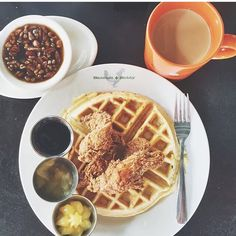 I'm a born and raised Southern Lady. So when you Chicken N Waffles, I say YES PLEASE! These CNW from Bantam + Biddy are light and delicious!