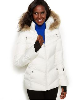 Nautica Faux-Fur Hooded Puffer Coat on shopstyle.com