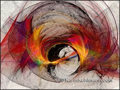 """Painterly abstract artwork """"Reaction"""", abstract digital art in abstract expressionism art style by Karin Kuhlmann."""