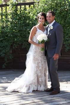 Abby and Adam - bride and groom. . . #BlackHillsReceptions