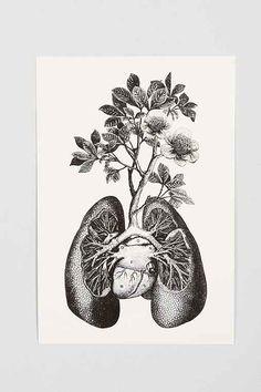 Cirque D'Art Lungs Art Print - Urban Outfitters