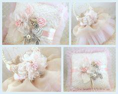 Bridal Ring Bearer Pillow and Flower Girl Basket in door SolBijou, $230.00