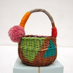 DIY FolkArt Paint Up-Cycled Gift Baskets by Handmade Charlotte