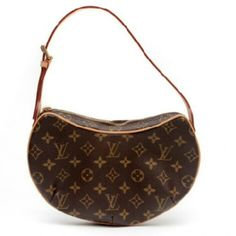 Monogram Pochette Croissant PM 100% authentic LV Pochette Croissant PM Bag. The signature monogram canvas done in the trademark brown and camel enhances the magnificent style and impeccable craftsmanship of this piece. The adjustable vachetta cowhide strap makes this bag easy to carry by hand, on the arm and over the shoulder. The zipper closure secures the red suede interior that boasts one open pocket. The hardware is polished golden brass, strap has natural patina. This bag is IN…