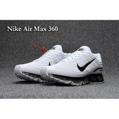 big sale bef08 1e32f Homme Nike Air Max 360 Chaussures de course Blanc Noir