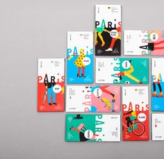 The graphic design agency Graphéine worked on a re-branding project to come up with a bold new look for the Paris Convention and Visitors Bureau. In a smart and Flugblatt Design, Buch Design, Cover Design, Layout Design, Print Design, Logo Design, Design Agency, Identity Design, Graphic Design Branding