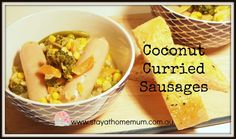 Coconut curried sausages