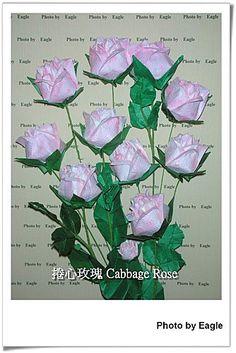 Орел Оригами: Оригами учение Айсберг розы капуста Роуз