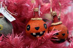 Bucktoothed Folk Art Pumpkin Ornament by Abbybelle on Etsy