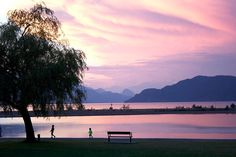 Harrison Lake, BC Tropical, Canada, Celestial, Mountains, Sunset, Live, Green, Outdoor, Beautiful