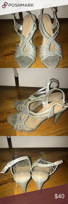Silver glitter heels Silver glitter heels only worn once. Great for prom Shoes Heels