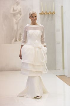 Elisabetta Polignano wedding dress #ribbon #sleeves #2014 #bride #sposa