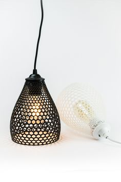 This amazing 3D printed lampshade was created by Voood an interior & product design studio from Bulgaria. This 3D model has been the finalist of the LampiON contest 2015. The concept starts from a simple hexagonal grid to achieve into a form of highly stylized lampshade. Combining the full version with hollow version to create many lighting variations.