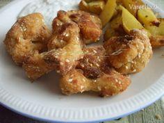 Karfiol vysmážaný v rúre - Recept Potatoes, Cooking Recipes, Meat, Chicken, Vegetables, Food, Potato, Chef Recipes, Essen