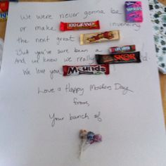 Mothers Day Candy Poster