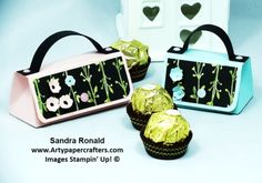 Cute Handbag in 2 sizes to hold 1 or 2 Ferrero Rocher | Arty Paper Crafters