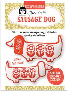 I designed the sausage dog kit for Mollie Makes Magazine - out on August 30th 2013