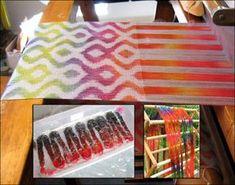 Warp Painting: Turned Taqueté & Plain Weave