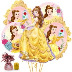 Check out Beauty & the Beast Deluxe Balloon Bouquet Kit   Beauty & the Beast tableware & décor for your party from Birthday in a Box from Birthday In A Box