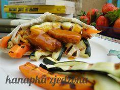 # grilled vegetables, # pork chop, # pita, kanapka zjedzona: Pita z grillowanymi warzywami i schabem