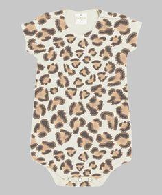 Look what I found on #zulily! Leopard Bodysuit #zulilyfinds