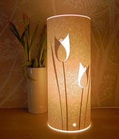 Tulipa de lámpara con papel