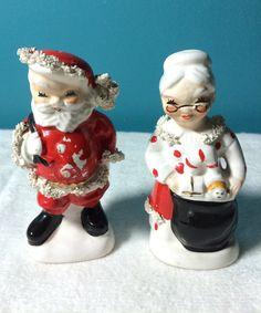 Japan Napco Santa Mrs Claus Salt and by AnotherWomansTreasur