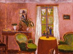 The Athenaeum - Room with Green Armchair (József Rippl-Rónai - )