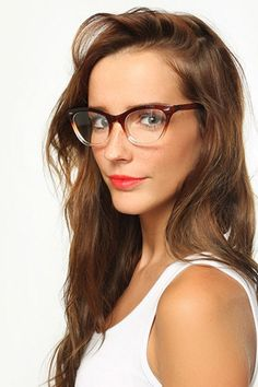 'Emma' Gradient Frame Cat Eye Clear Glasses - Black/Tortoise - 1029-8