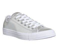 ebf989689c1 Buy Silver Metallic Snake Converse Converse All Star Low from OFFICE.co.uk.