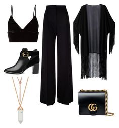 """Untitled #33"" by virag03 on Polyvore featuring T By Alexander Wang, MaxMara, Ted Baker, WithChic and Gucci"