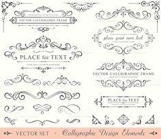 Calligraphic Design Elements illustracion libre de derechos libre de derechos