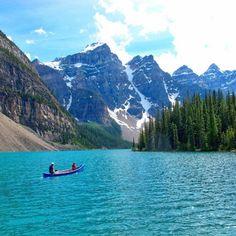 Moraine Lake, Canada via @wanderingz #LiveTravelChannel