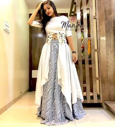 Here are latest Pakistani and Indian long skirts. Choose skirt style from casual or party wear dresses. Watch this video on how to style skirt in different w. Indian Fashion Dresses, Indian Gowns Dresses, Dress Indian Style, Indian Designer Outfits, Indian Wedding Gowns, Eid Dresses, Pakistani Dresses, Long Dresses, Indian Outfits