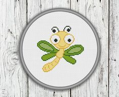 Cute Dragonfly Counted Cross Stitch Pattern Needlepoint