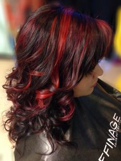 b:Red series 2 toned Red Highlights from Affinage Salon Professional.
