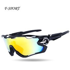 Fsport 2016 Newest Outdoor Sports Fashion SunglassesGreat For Cycling Driving Hiking Skiing or FishingChangeable Lenses and Unbreakable High strengthBlack -- Check this awesome product by going to the link at the image. (Note:Amazon affiliate link)
