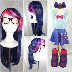 Twilight Sparkle Wig Glasses Ears Cap