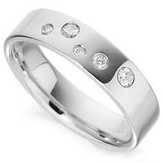 random+placed++diamond+bands | Random Flush Set Diamond Wedding Band