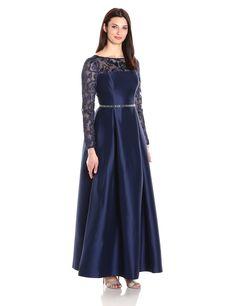 2d15eaadfe5 Alex Evenings Women s Illusion Lace Neckline Ballgown at Amazon Women s  Clothing store