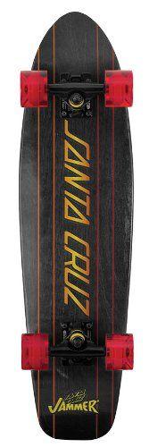 Santa Cruz Jammin Jammer 11112872 Longboard Skateboard 7.4 x 29 Inches Black/Gold: Amazon.co.uk: Sports & Outdoors