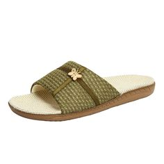 Kenroll Women's Open Toe Indoor Linen Slippers Flax Slippers House Shoes * Review more details here at Women's Shoes board