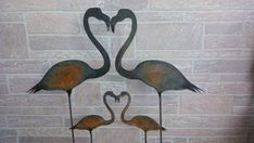 Metal Flamingo Yard Stake  Yard Decor  Flamingo by LANDDelements, $20.00