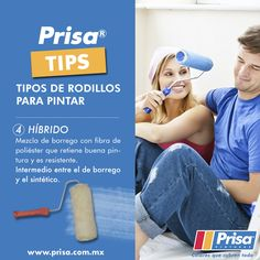#PrisaTips Tipos de rodillo. 4. Híbrido. http://www.prisa.com.mx/ #ColoresQueCubrenTodo