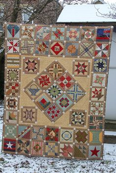 Finished BB Civil War Quilt by sundaybee, via Flickr