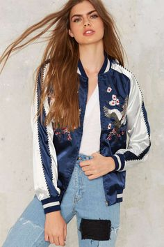 Light as a Feather Embroidered Bomber Jacket | Shop Clothes at Nasty Gal!